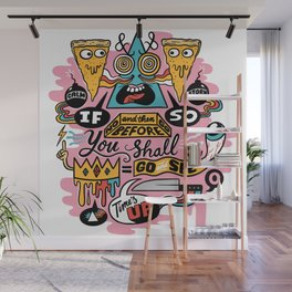 Pizza Mystery Wall Mural