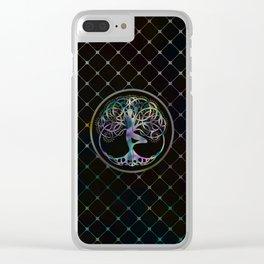 Glowing symbol for Vriksasana - Yoga Tree pose Clear iPhone Case