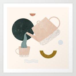 all the tea Art Print