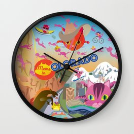 Mews and the state Colorado Wall Clock
