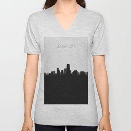 City Skylines: Jersey City Unisex V-Neck