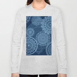 Mandala rain blue Long Sleeve T-shirt