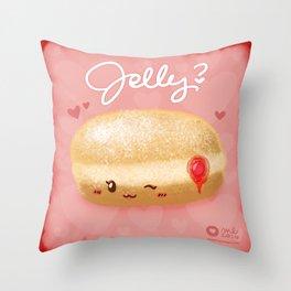 Jelly? Throw Pillow