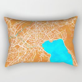 Annecy, France, Gold, Blue, City, Map Rectangular Pillow