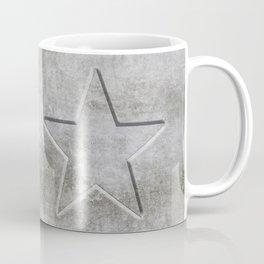 Solid Star in grey conrete Coffee Mug