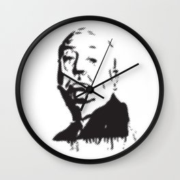 Halftone of Alfred Hitchcock Wall Clock