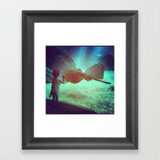 Boy at the Portuguese Oceanarium   Framed Art Print