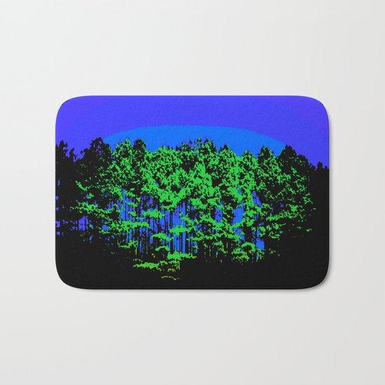 Mod Trees Blue & Green Bath Mat