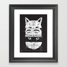 The cats Framed Art Print