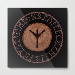 Algiz Elder Futhark Rune divinity, higher self, the state of listening, protective teaching force Metal Print