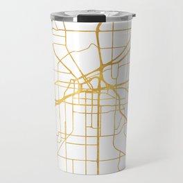 FORT WORTH CITY STREET MAP ART Travel Mug