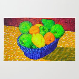 Still Life with Apples, Lemons, Oranges, and Pear Rug