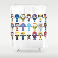 magneto Shower Curtains featuring 90's 'X-men' Robotics by We Are Robotic