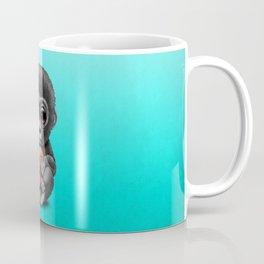 Cute Baby Gorilla Playing With Basketball Coffee Mug