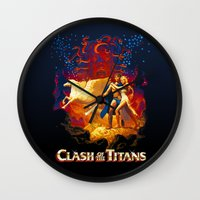 teen titans Wall Clocks featuring Titans by CromMorc