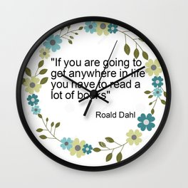 a book quote Wall Clock