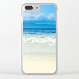 Beach Blue Kapalua Golden Sand Maui Hawaii Clear iPhone Case