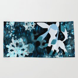 Glaceon Beach Towel
