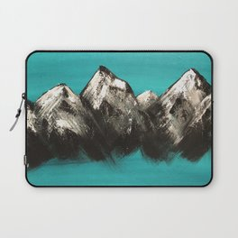 Turquoise Mountains by Noelle's Art Loft Laptop Sleeve