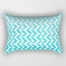 Maritime Aqua Teal Chevron Herringbone ZigZag - Mix & Match Rectangular Pillow