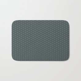 PPG Night Watch Pewter Green Double Scallop Wave Pattern Bath Mat