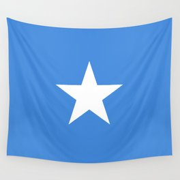 Somalian national flag - Authentic color and scale (high quality file) Wall Tapestry