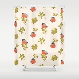 Eurasian bullfinch 2 Shower Curtain