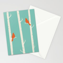 Birds in Winter Trees Stationery Cards