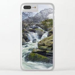 Snow Covered Tryfan Clear iPhone Case