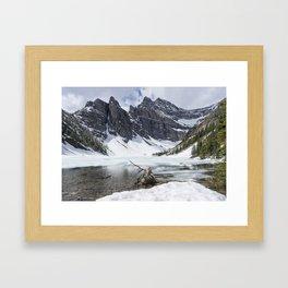 Icy Lake Framed Art Print