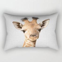 Baby Giraffe - Colorful Rectangular Pillow