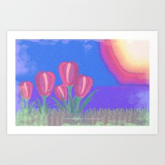 FLOWERS IN THE SUN V3 - 023 Art Print