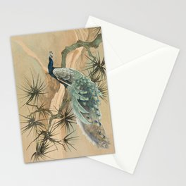Peacock In The Pines Stationery Cards