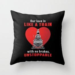Locomotive Train Driver Trains Railroad Funny Gift Throw Pillow