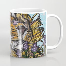 Lion in Lavender Painting Coffee Mug