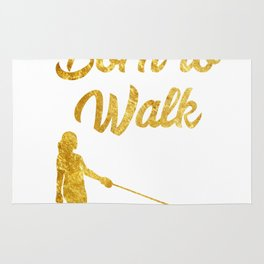 Born to Walk gold Dog Doggie Dog-Walking Rug