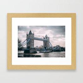 Tower Bridge Gloom Framed Art Print