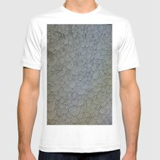 Sea of Lines MEDIUM White Mens Fitted Tee