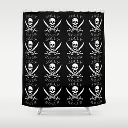 jolly-roger-pattern Shower Curtain