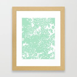 Painting mint abstract minimal painterly boho dorm nursery art Framed Art Print