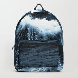 Dark Sea Waves Backpack