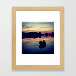 Sunset on the Harbor Framed Art Print
