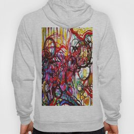 Whimsical Flower Girl's Force Field Acrylic and Watercolor Painting Hoody