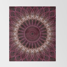 Ruby Mandala Throw Blanket