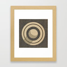 Vintage Saturn From Above Framed Art Print