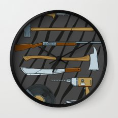 Horrible Weapons Wall Clock