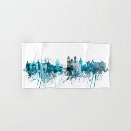 Lucerne Switzerland Monochrome Blue Skyline Hand & Bath Towel