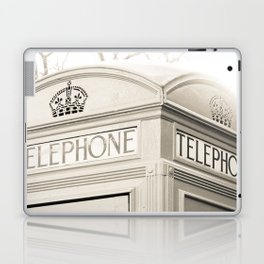 London telephone booth Laptop & iPad Skin