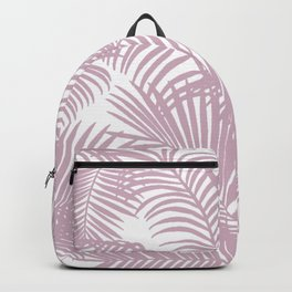 Modern tropical lavender palm tree floral Backpack