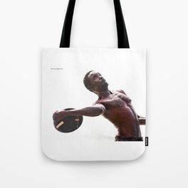 The disc launcher Tote Bag